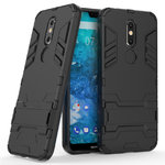 Slim Armour Tough Shockproof Kickstand Case for Nokia 7.1 - Black